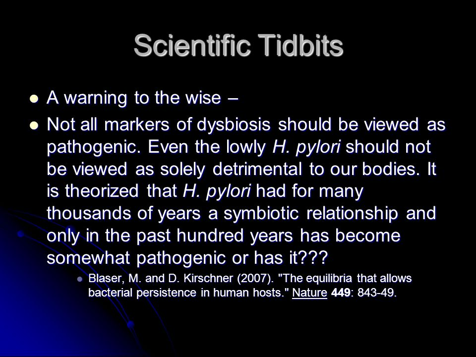 Scientific Tidbits A warning to the wise –