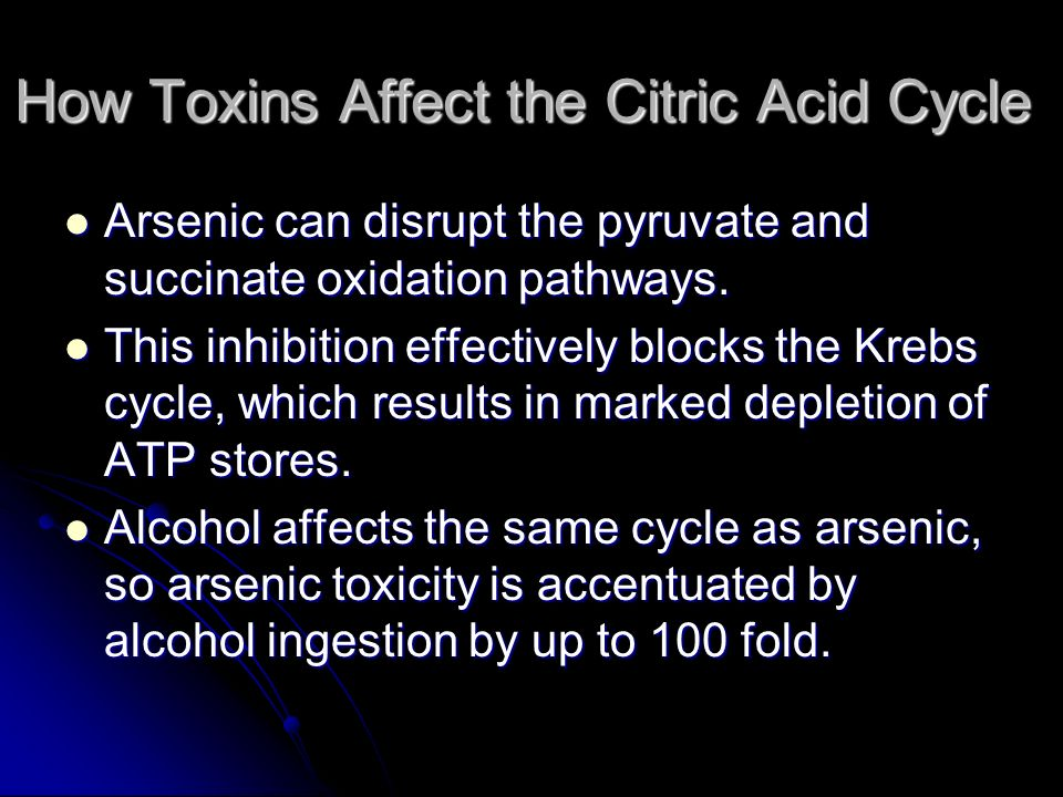 How Toxins Affect the Citric Acid Cycle
