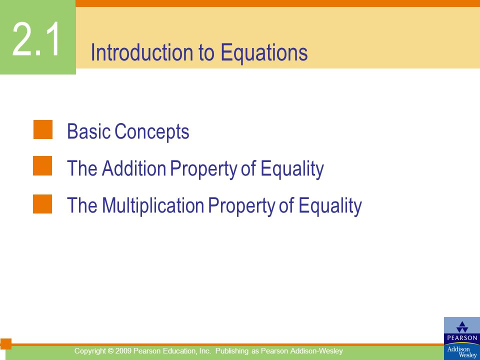 Introduction to Equations