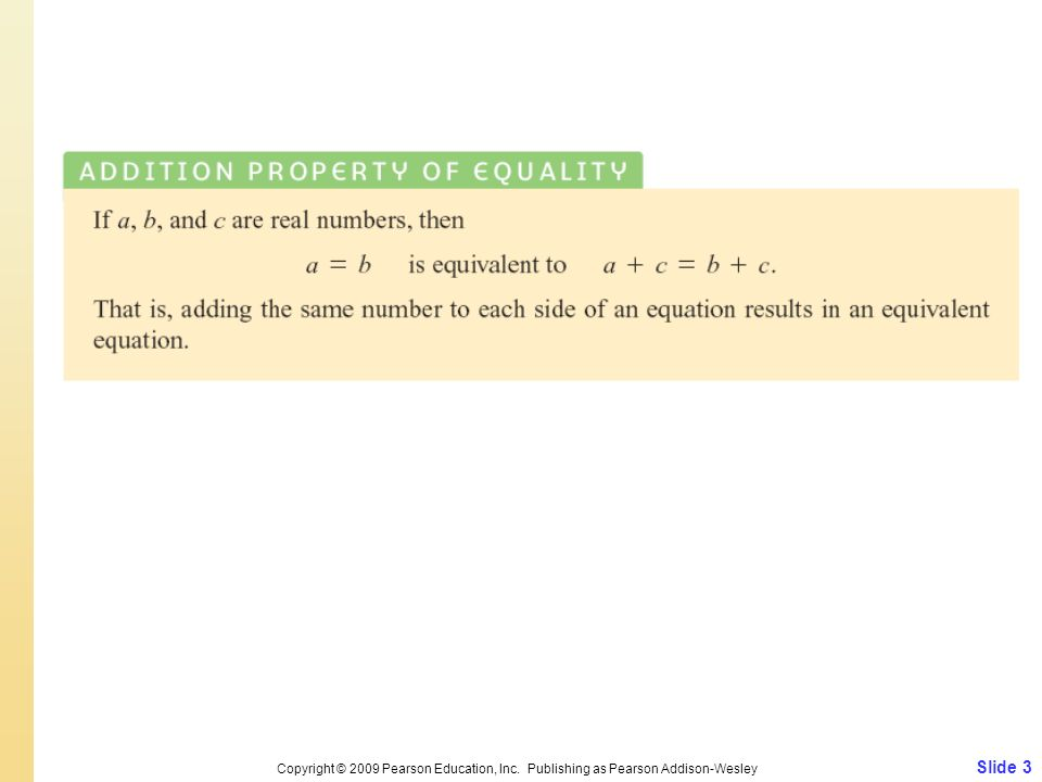Copyright © 2009 Pearson Education, Inc
