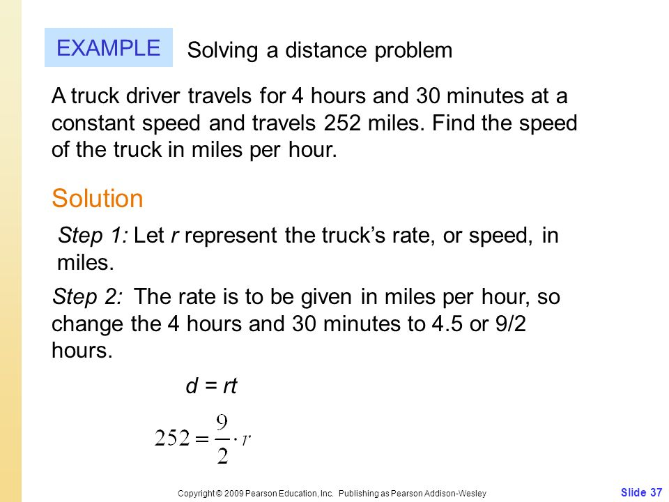 Solution EXAMPLE Solving a distance problem