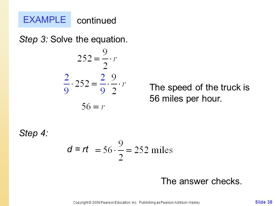 Step 3: Solve the equation.