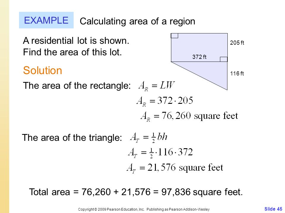 Solution EXAMPLE Calculating area of a region