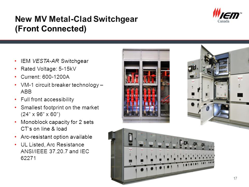 New MV Metal-Clad Switchgear (Front Connected)
