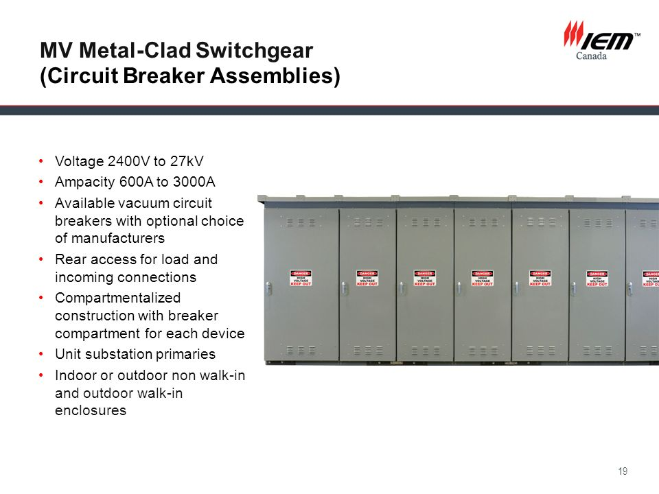 MV Metal-Clad Switchgear (Circuit Breaker Assemblies)