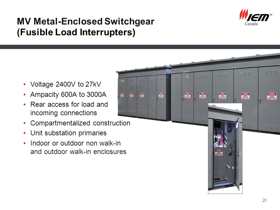 MV Metal-Enclosed Switchgear (Fusible Load Interrupters)