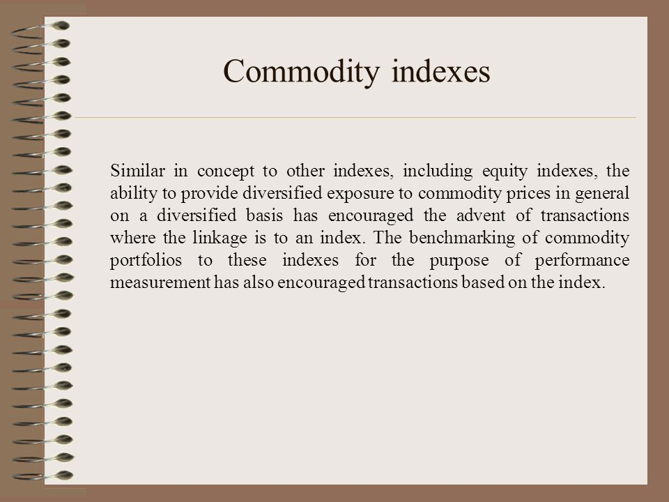 Commodity indexes