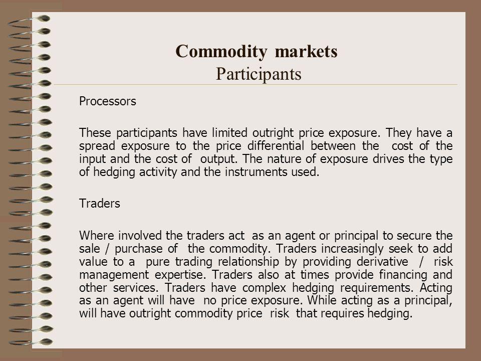 Commodity markets Participants