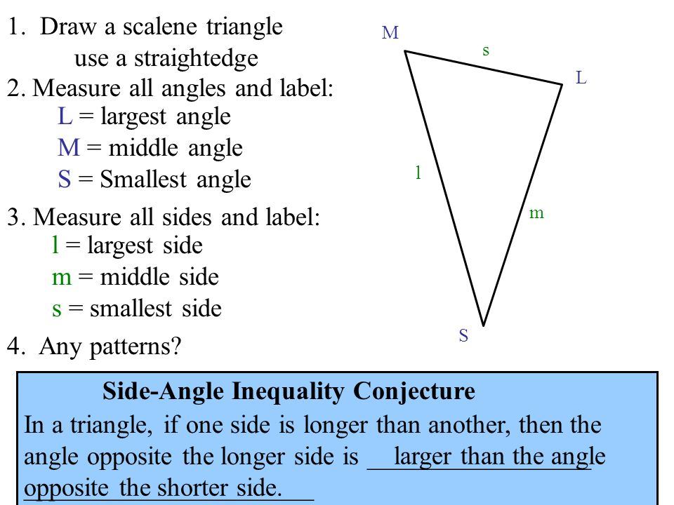 1. Draw a scalene triangle use a straightedge