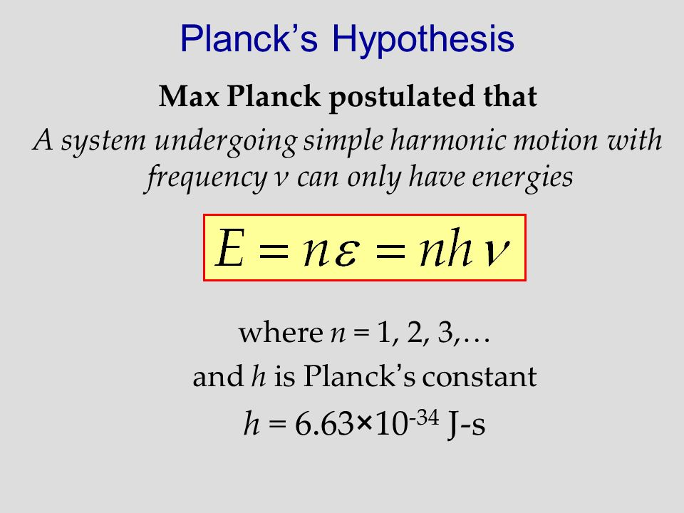 Max Planck postulated that
