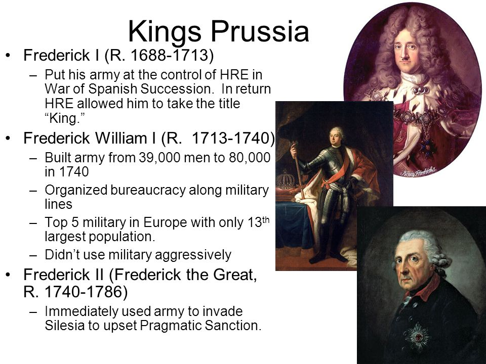 Kings Prussia Frederick I (R )