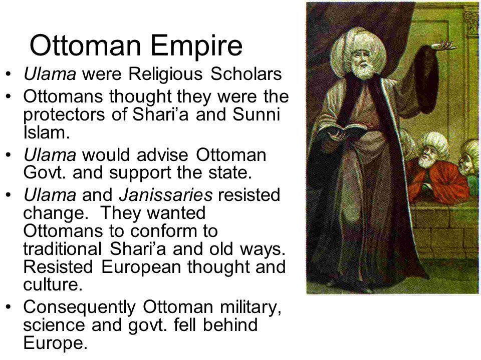 Ottoman Empire Ulama were Religious Scholars