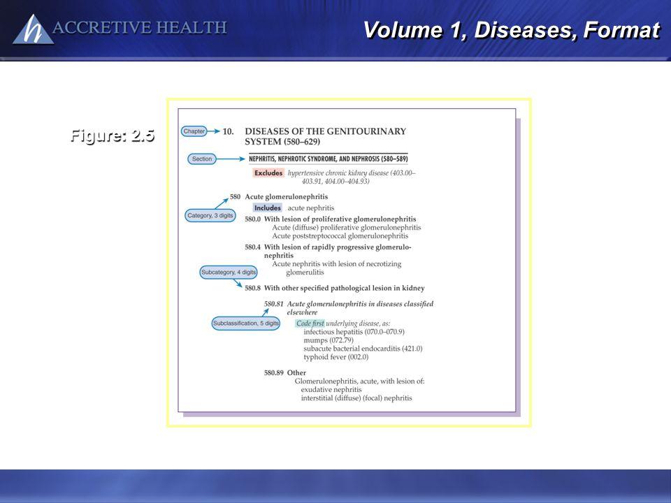 Volume 1, Diseases, Format