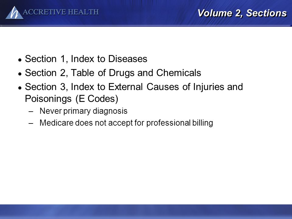 Section 1, Index to Diseases Section 2, Table of Drugs and Chemicals