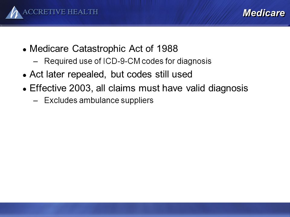 Medicare Catastrophic Act of 1988