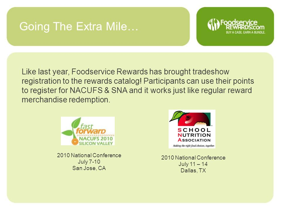 Going The Extra Mile…