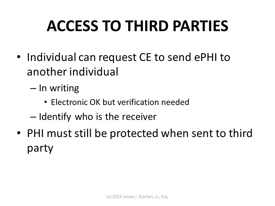 ACCESS TO THIRD PARTIES