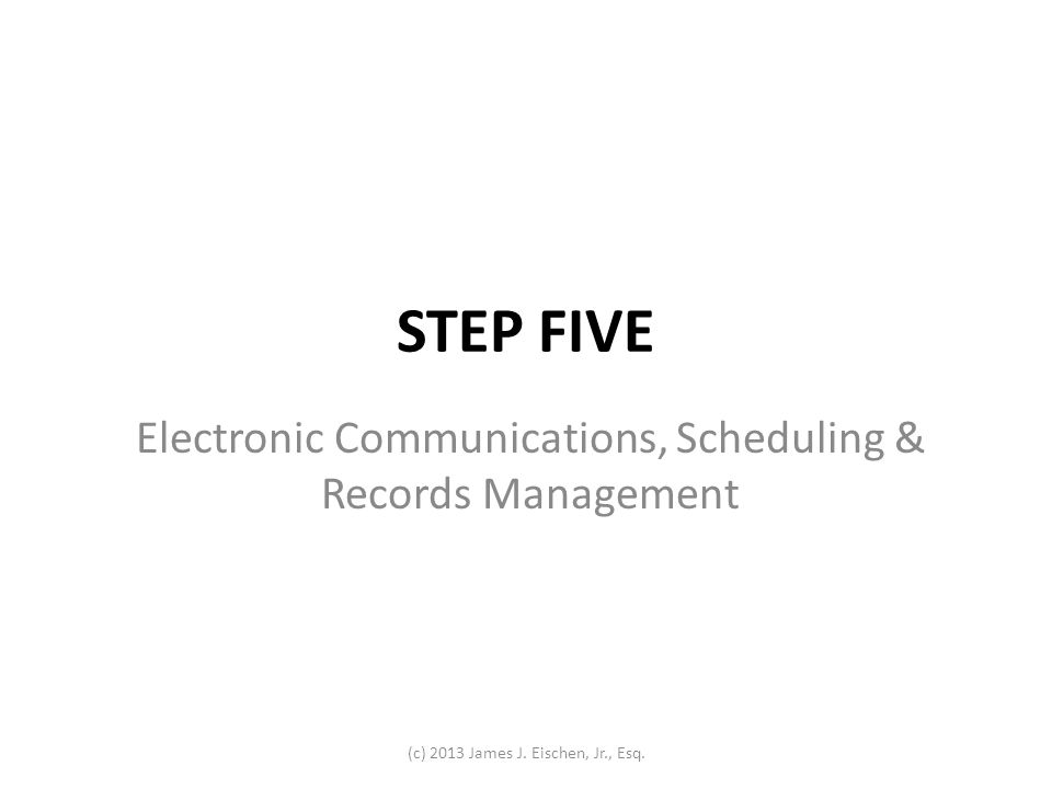 Electronic Communications, Scheduling & Records Management