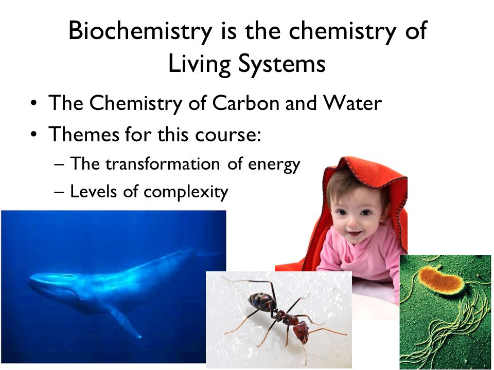 Biochemistry is the chemistry of Living Systems