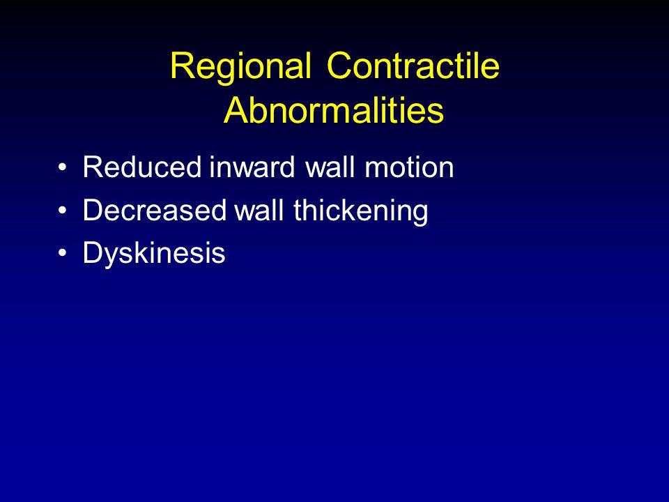 Regional Contractile Abnormalities