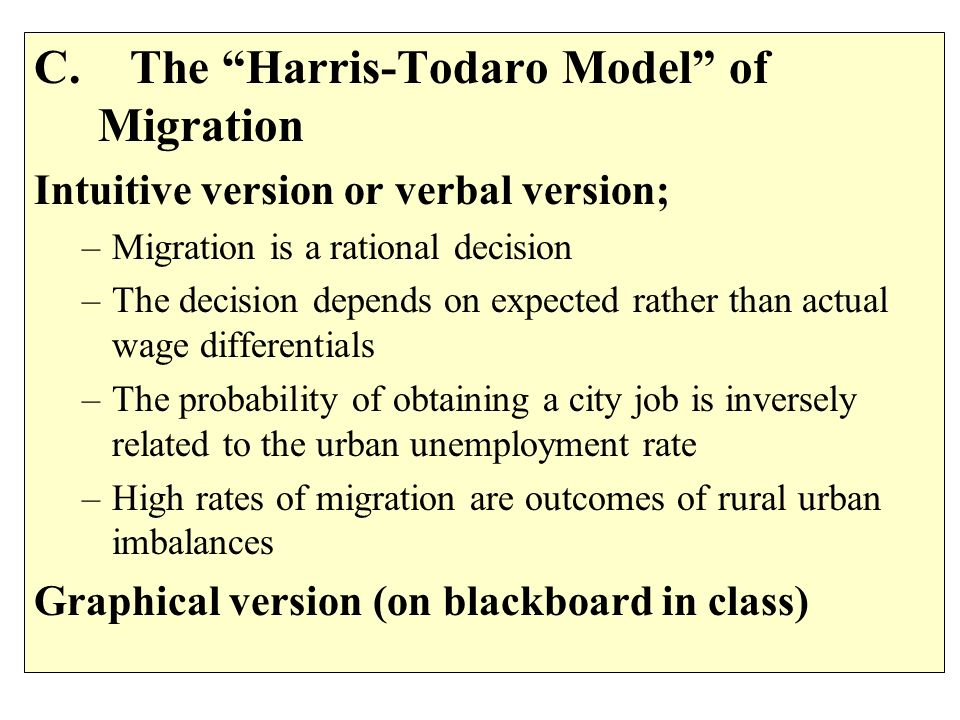 C. The Harris-Todaro Model of Migration