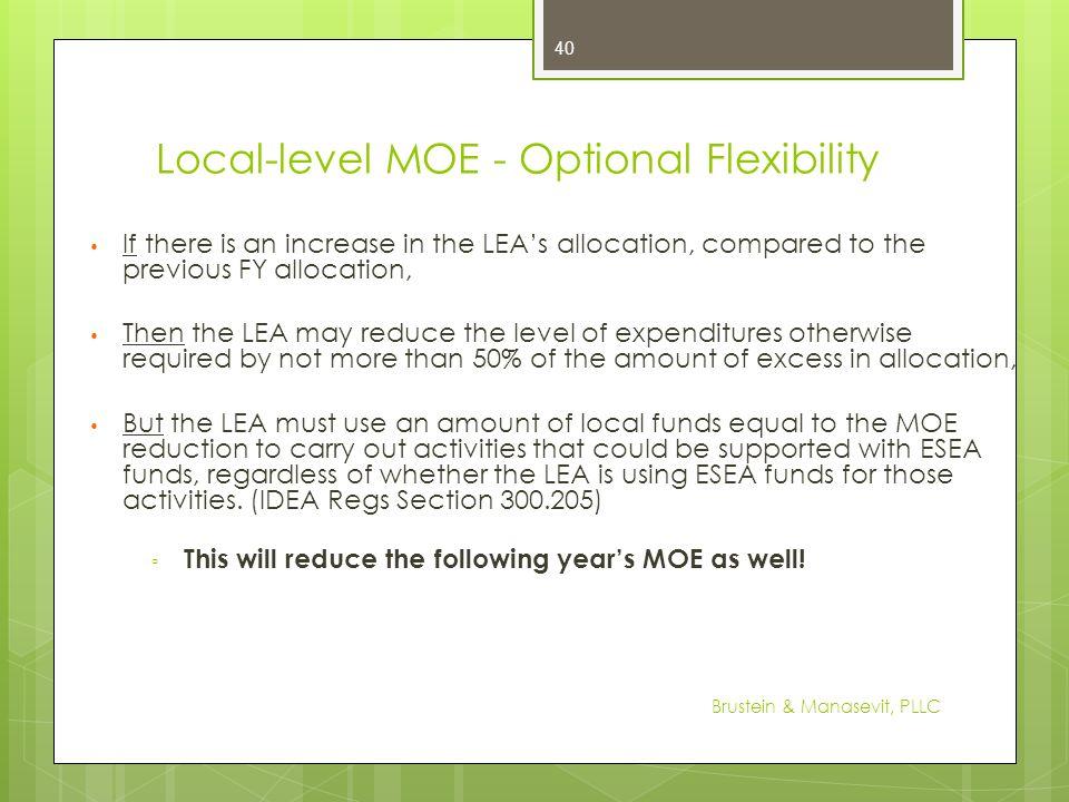 Local-level MOE - Optional Flexibility