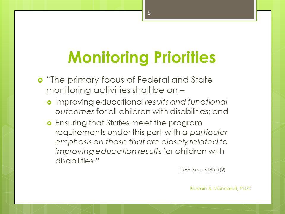 Monitoring Priorities