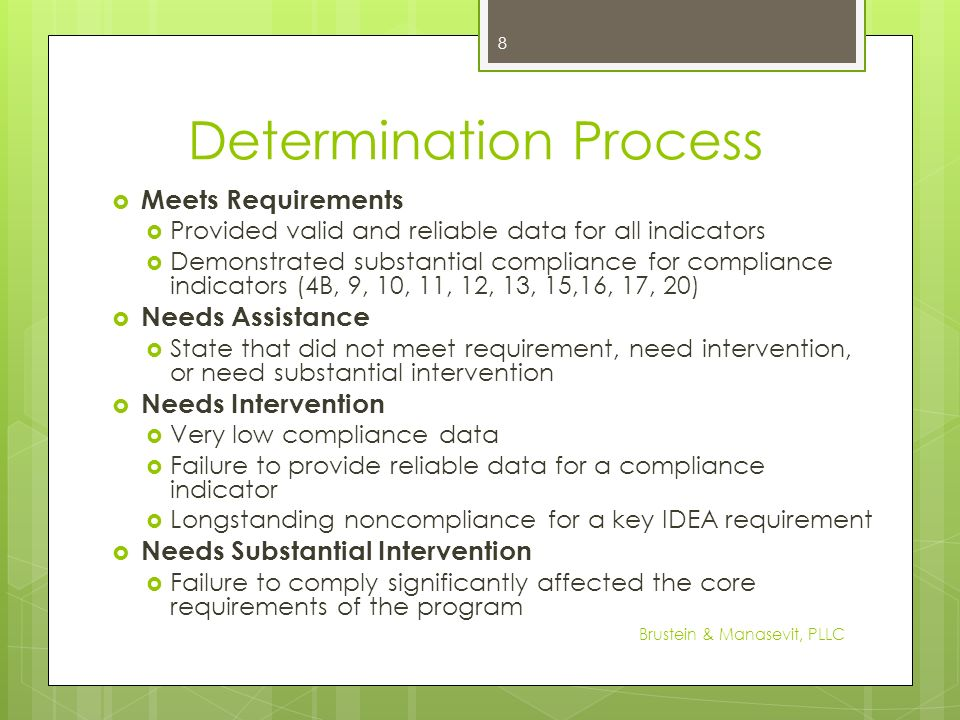 Determination Process