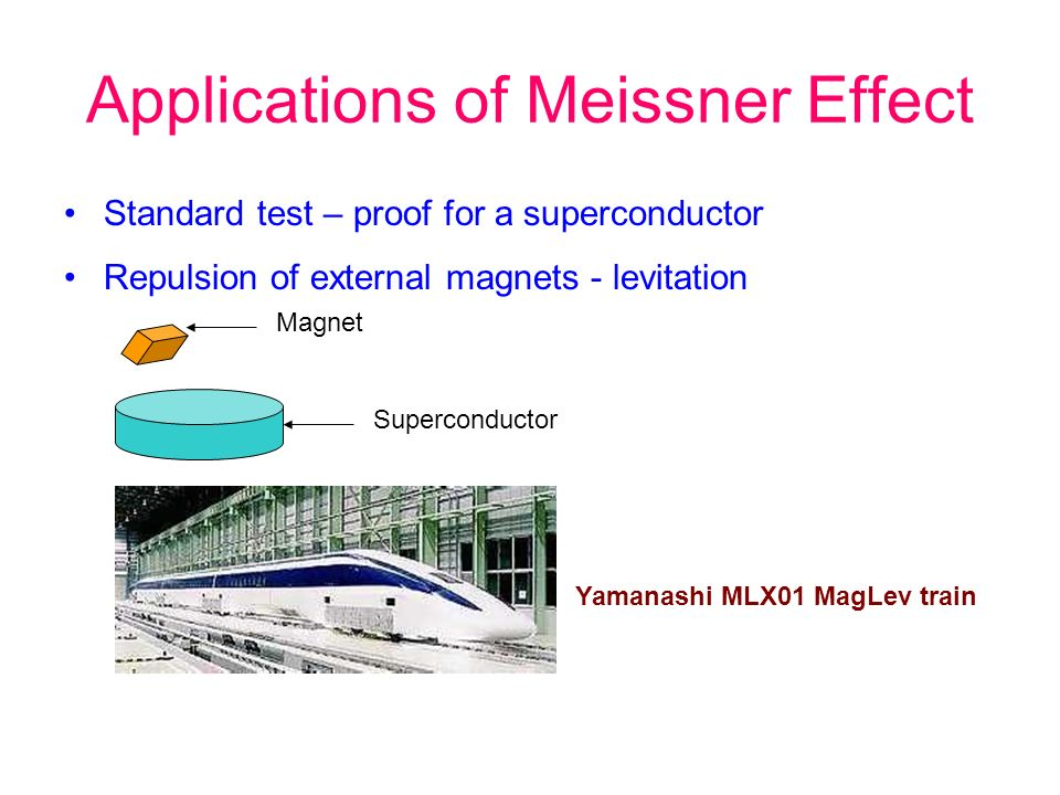 Applications of Meissner Effect
