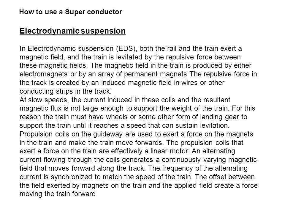 Electrodynamic suspension