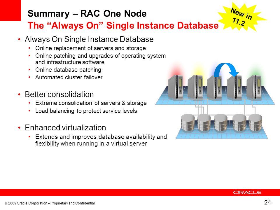 Summary – RAC One Node The Always On Single Instance Database