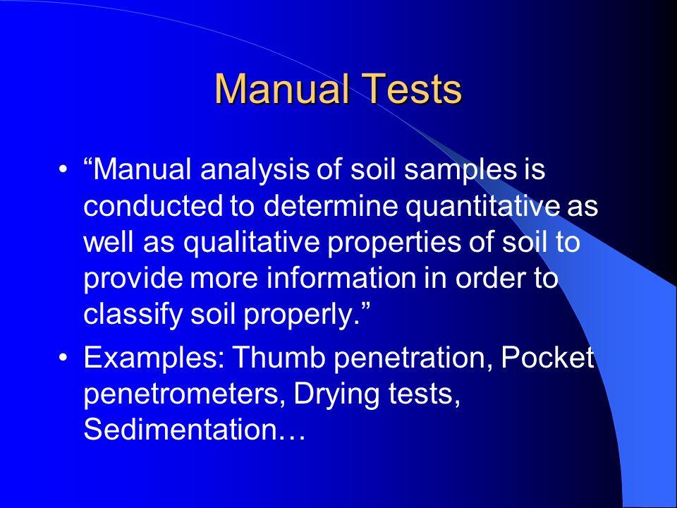 Manual Tests