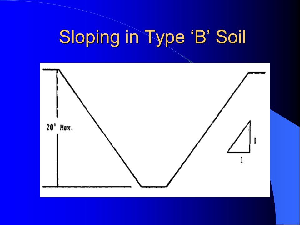 Sloping in Type 'B' Soil
