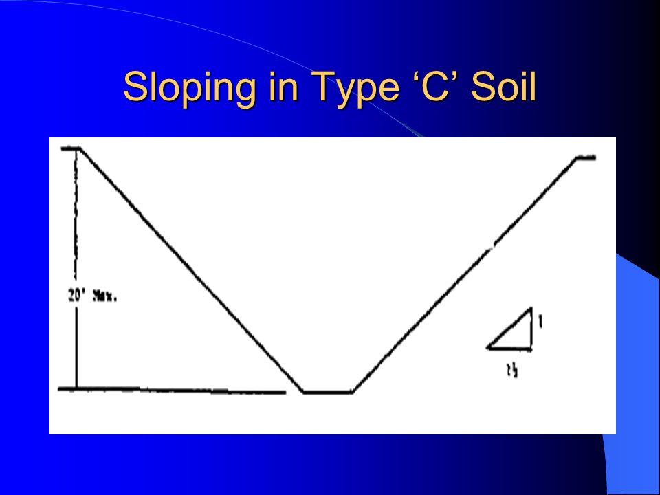 Sloping in Type 'C' Soil