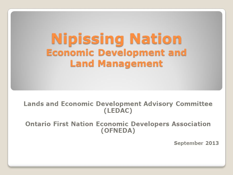 Nipissing Nation Economic Development and Land Management