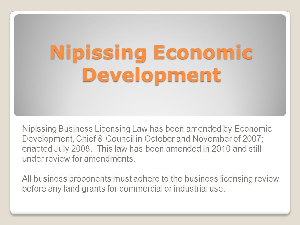 Nipissing Economic Development