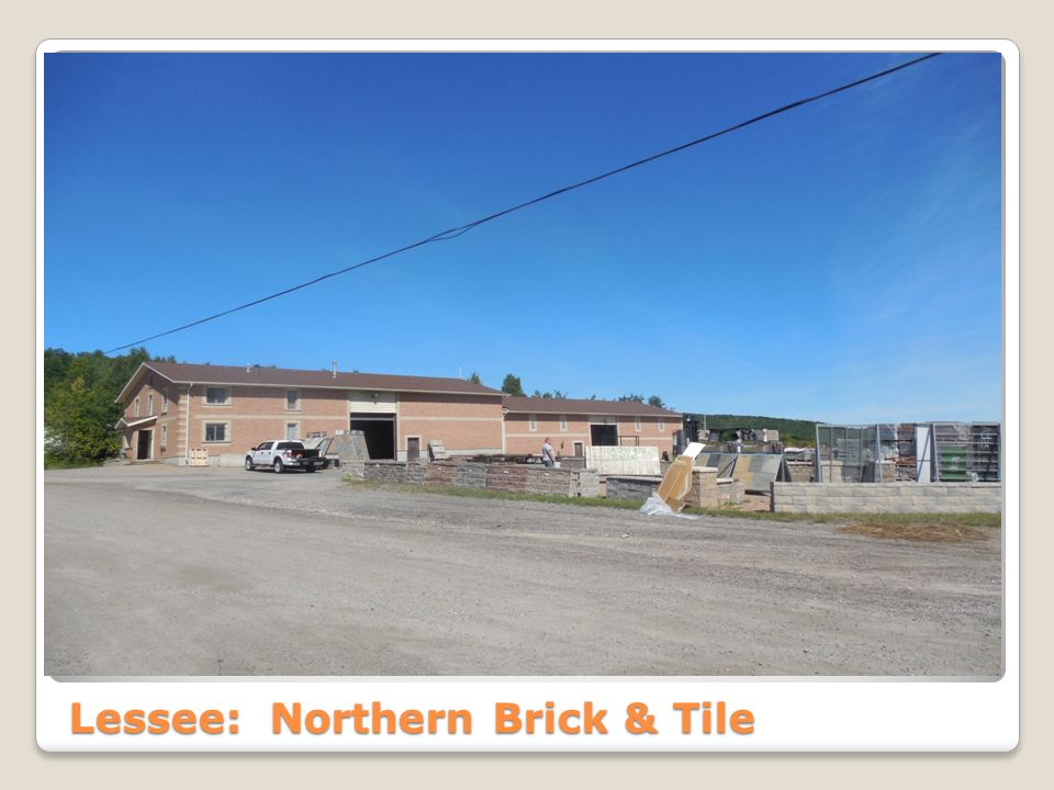 Lessee: Northern Brick & Tile