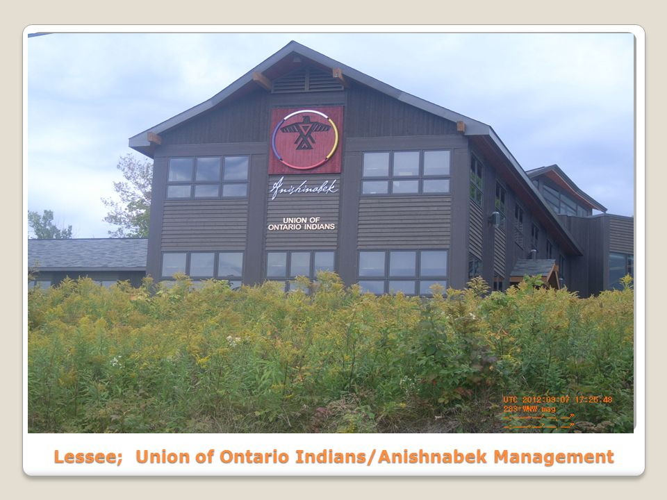 Lessee; Union of Ontario Indians/Anishnabek Management
