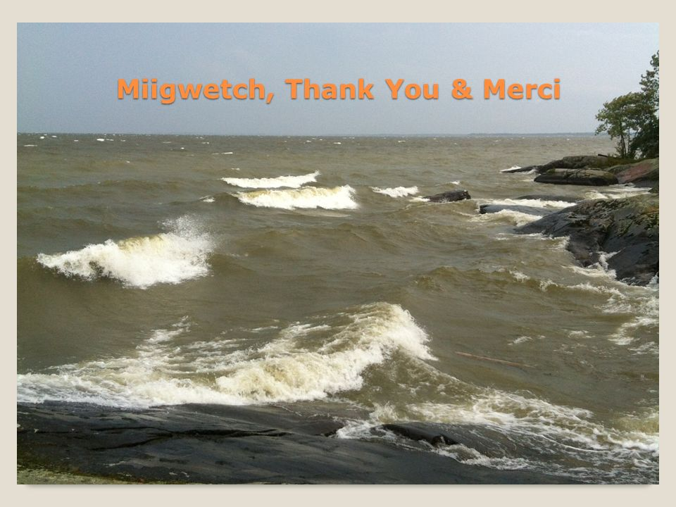 Miigwetch, Thank You & Merci