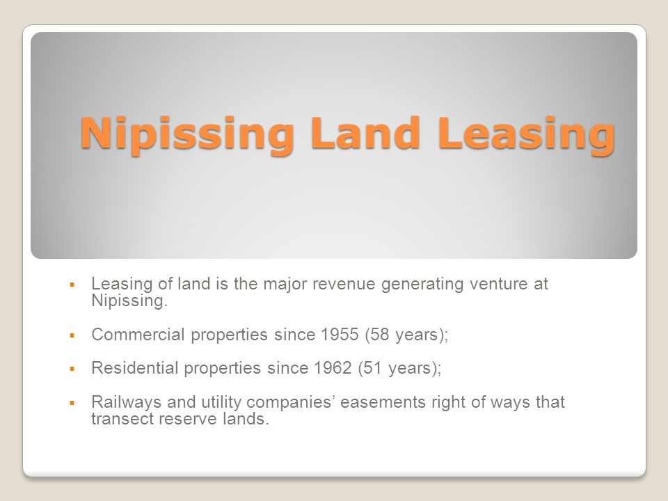 Nipissing Land Leasing