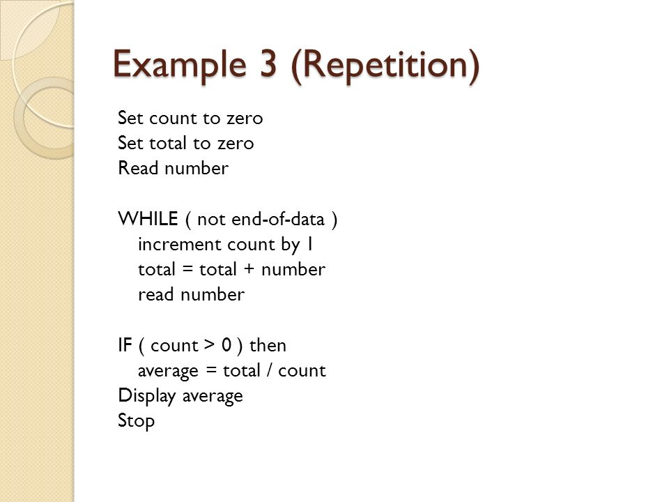 Example 3 (Repetition)