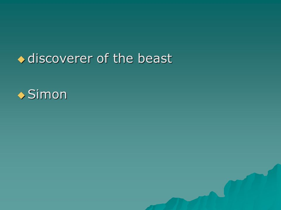 discoverer of the beast