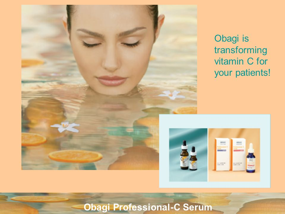 Obagi is transforming vitamin C for your patients!