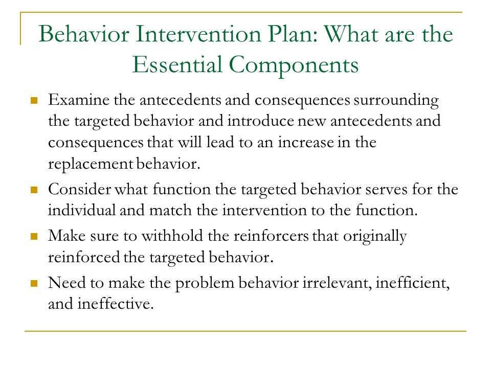Behavior Intervention Plan: What are the Essential Components