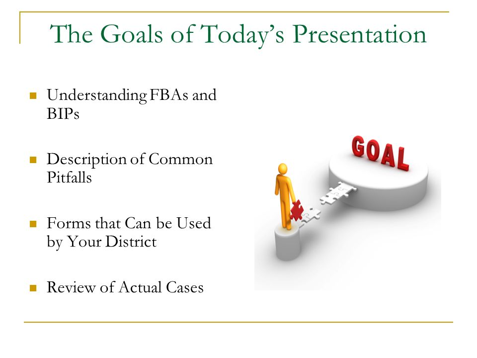 The Goals of Today's Presentation