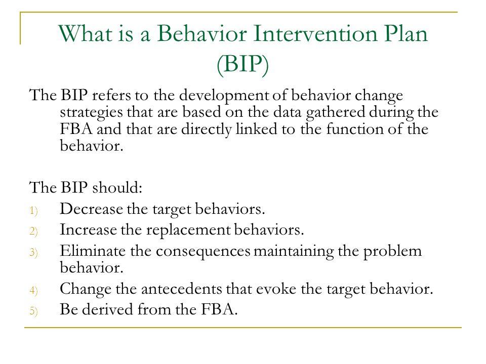 What is a Behavior Intervention Plan (BIP)