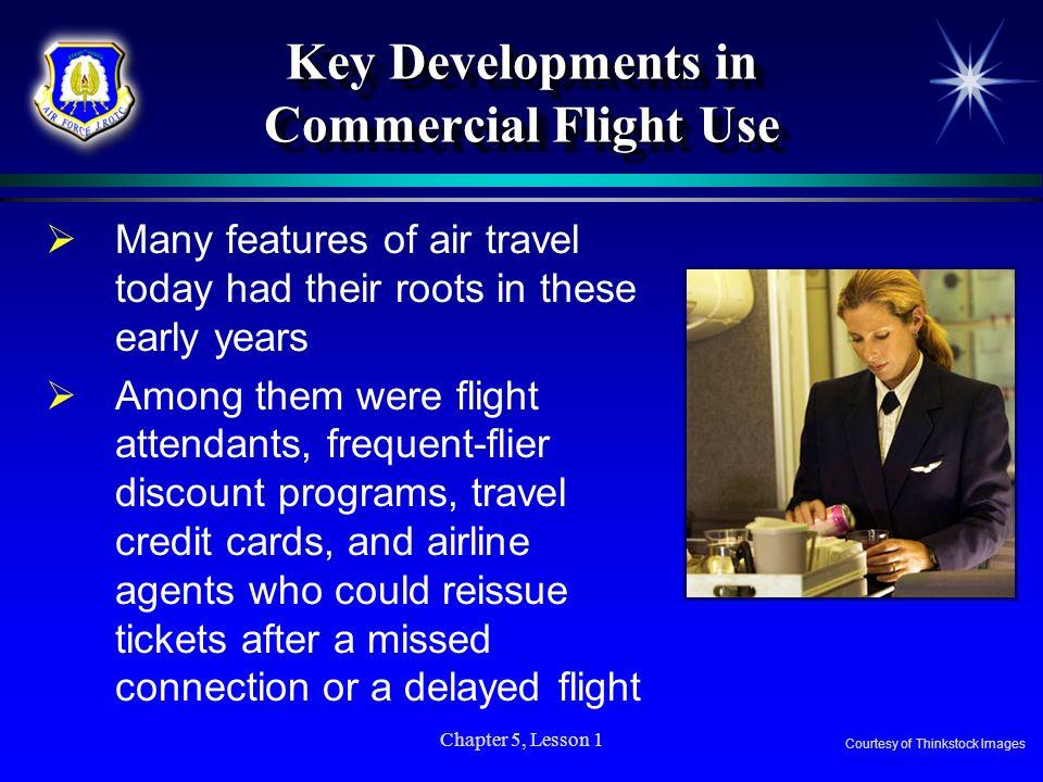 Key Developments in Commercial Flight Use