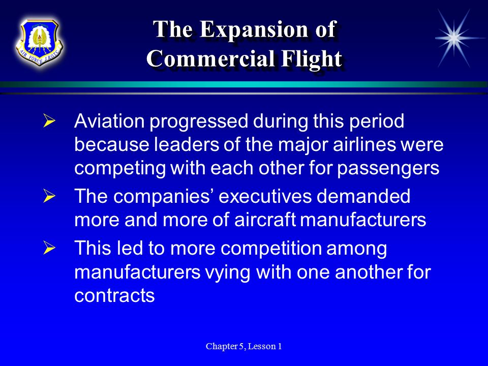 The Expansion of Commercial Flight