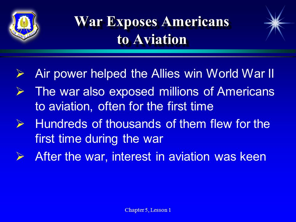 War Exposes Americans to Aviation