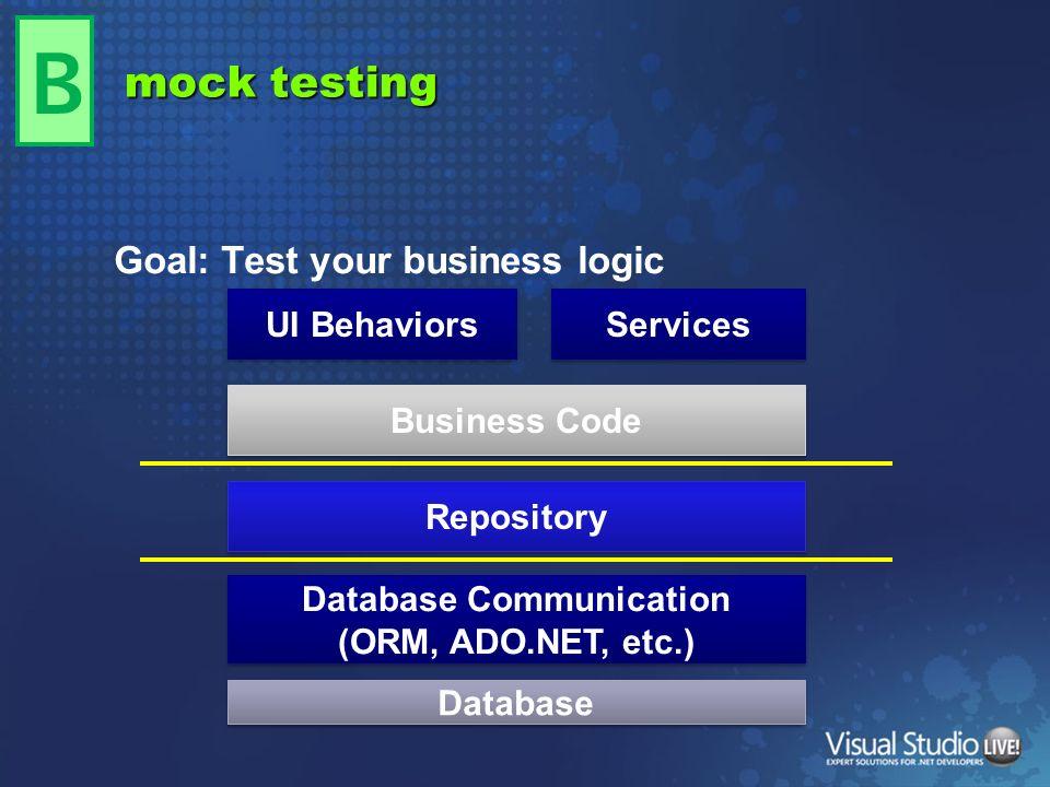 Database Communication (ORM, ADO.NET, etc.)
